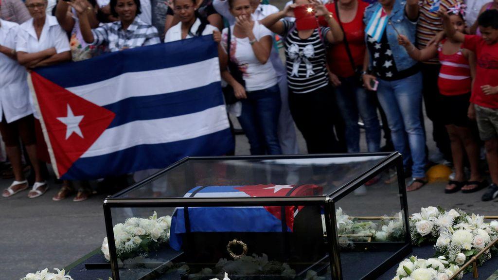 Las cenizas de Fidel Castro en Bayano, camino a Santiago de Cuba