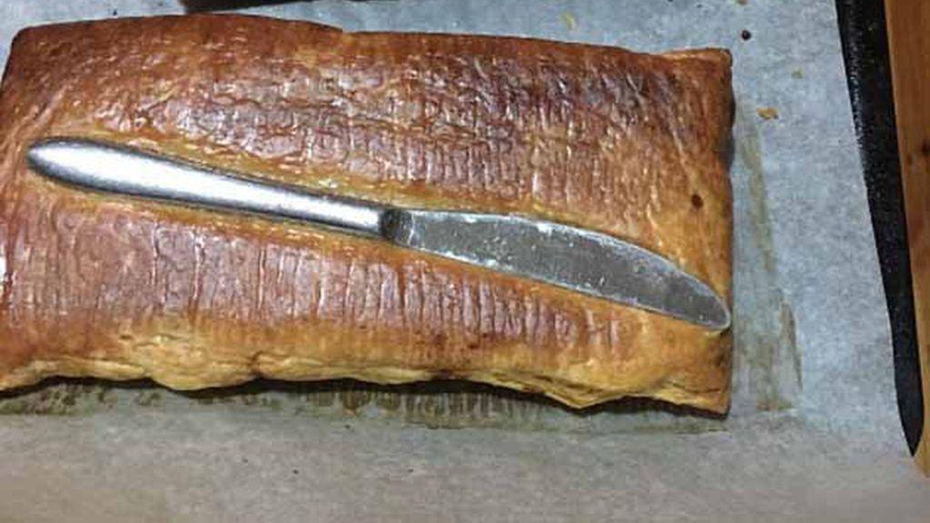 Una empanada cortante