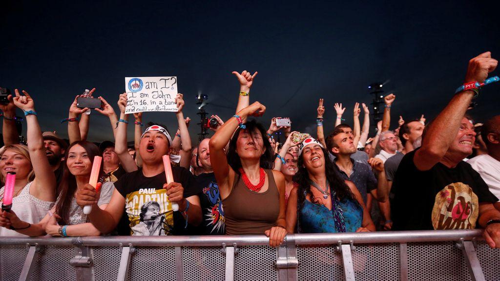 El público disfrutando del concierto de The Who