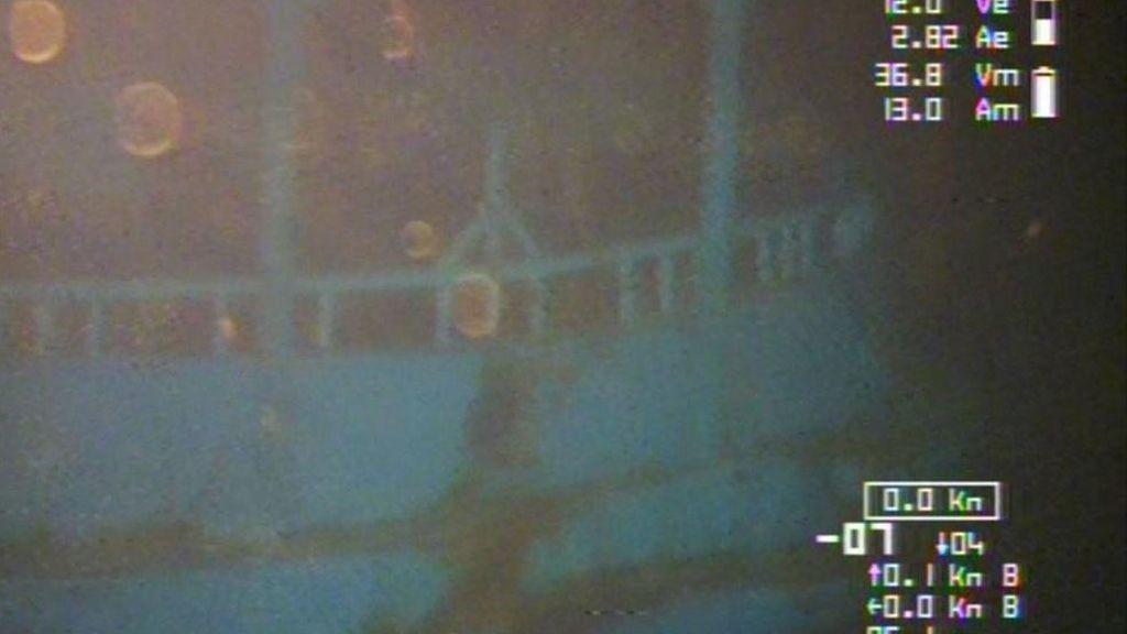 La Marina italiana divulga las primeras imágenes de los restos del naufragio del 18 de abril