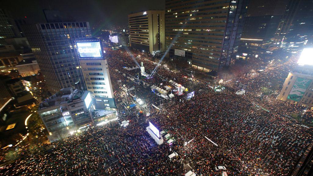 Las calles de Seúl dejan una de las imágenes más llamativas