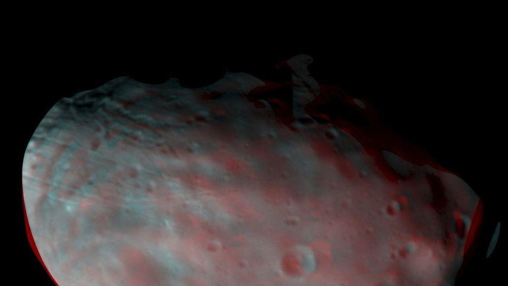 Exomars pone a prueba su satélite TGO con imágenes del Luna Marciana Phobos