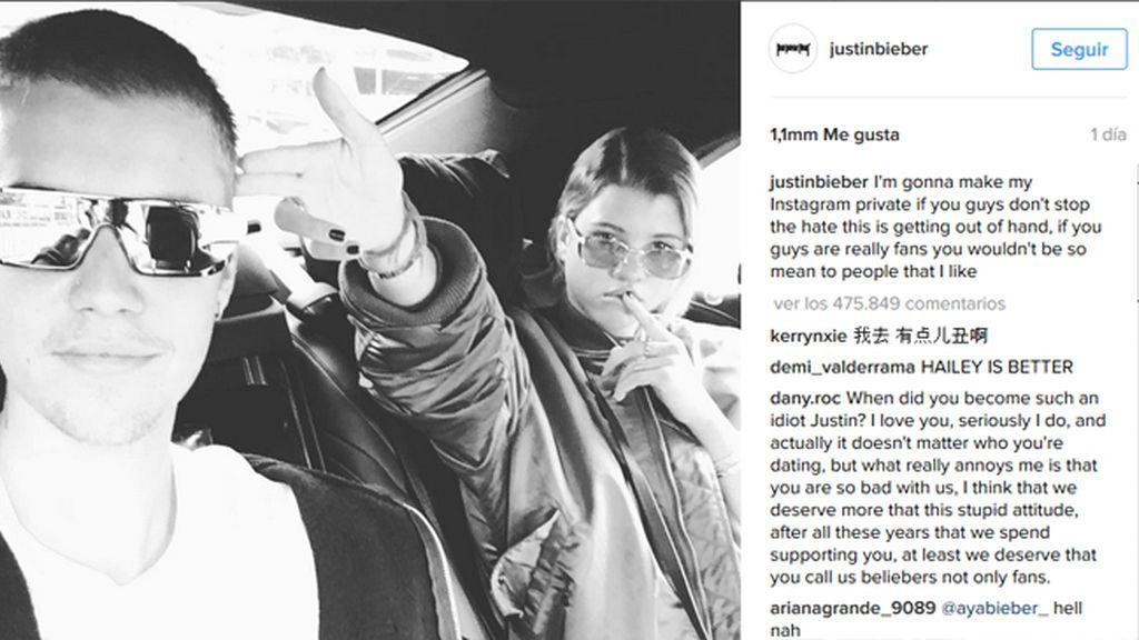 Pelea entre Justin y Selena