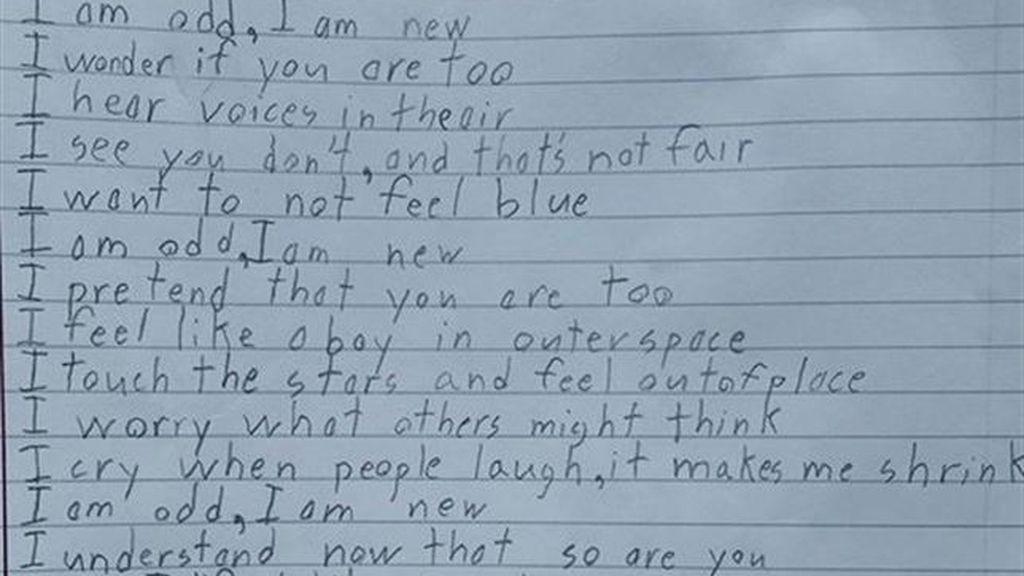 El poema de un niño con Asperger que conmueve a las redes