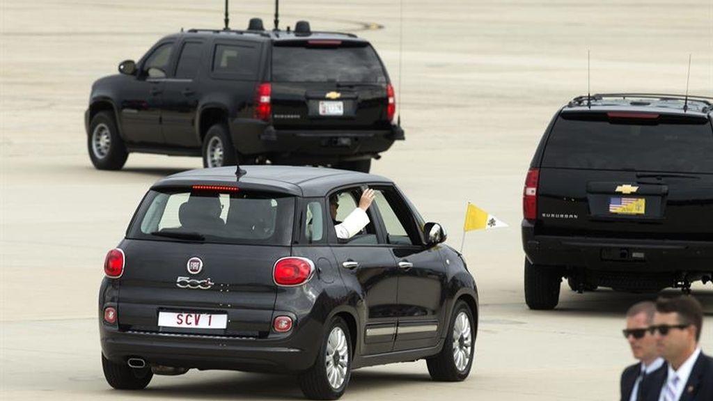 El Papa Francisco a su llegada a EEUU