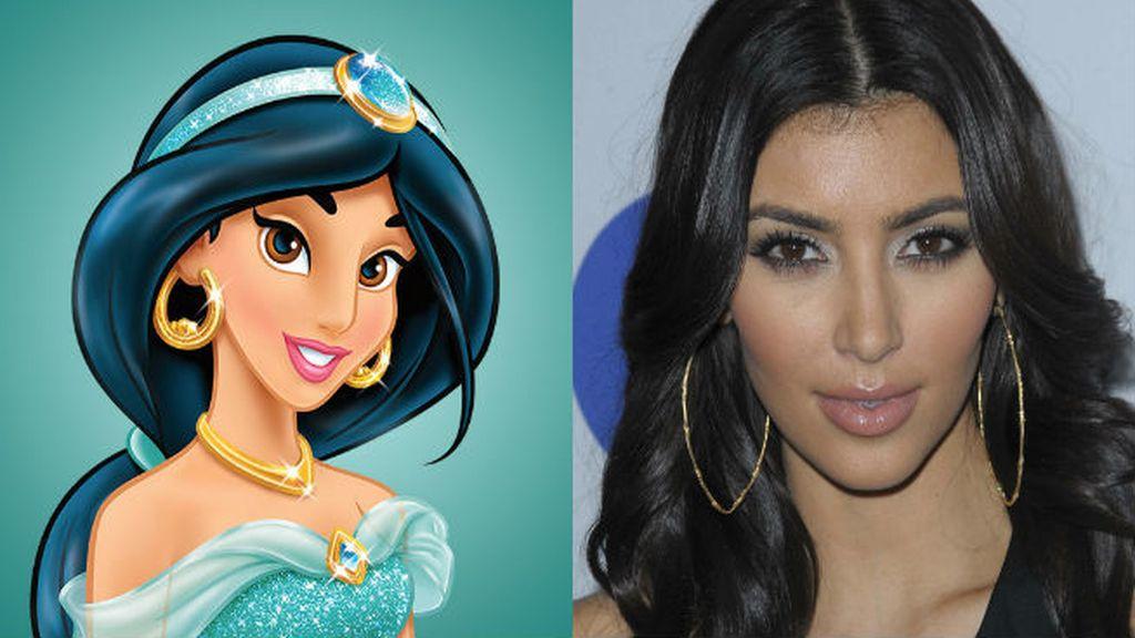 """Jazmine de 'Aladdin' fliparía en colores con los trucos de """"genio"""" de Kim Kardashian para ser siempre la más sexy de la fiesta"""