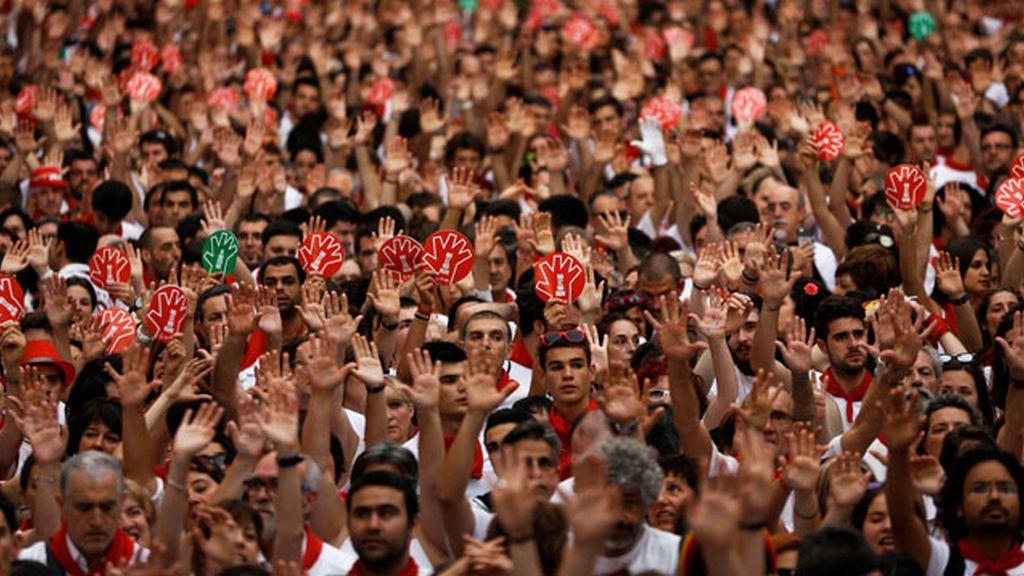 Protesta agresión sexual Pamplona, Sanfermines