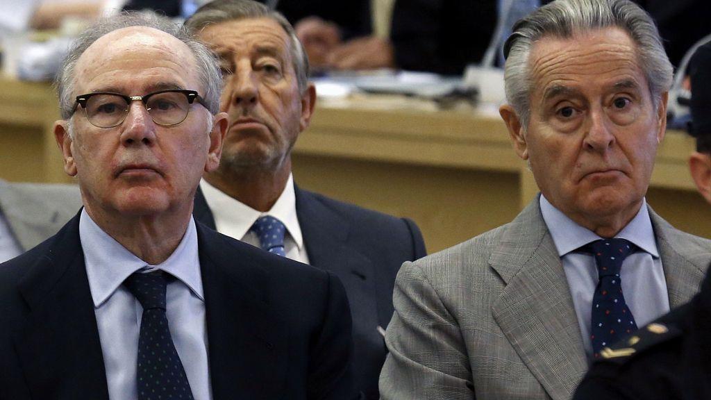 Rodrigo Rato y Miguel Blesa, en el banquillo de los acusados por las tarjetas black