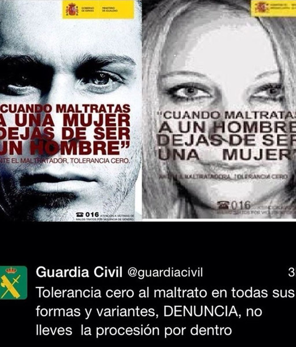 violencia machista, tuit Guardia Civil