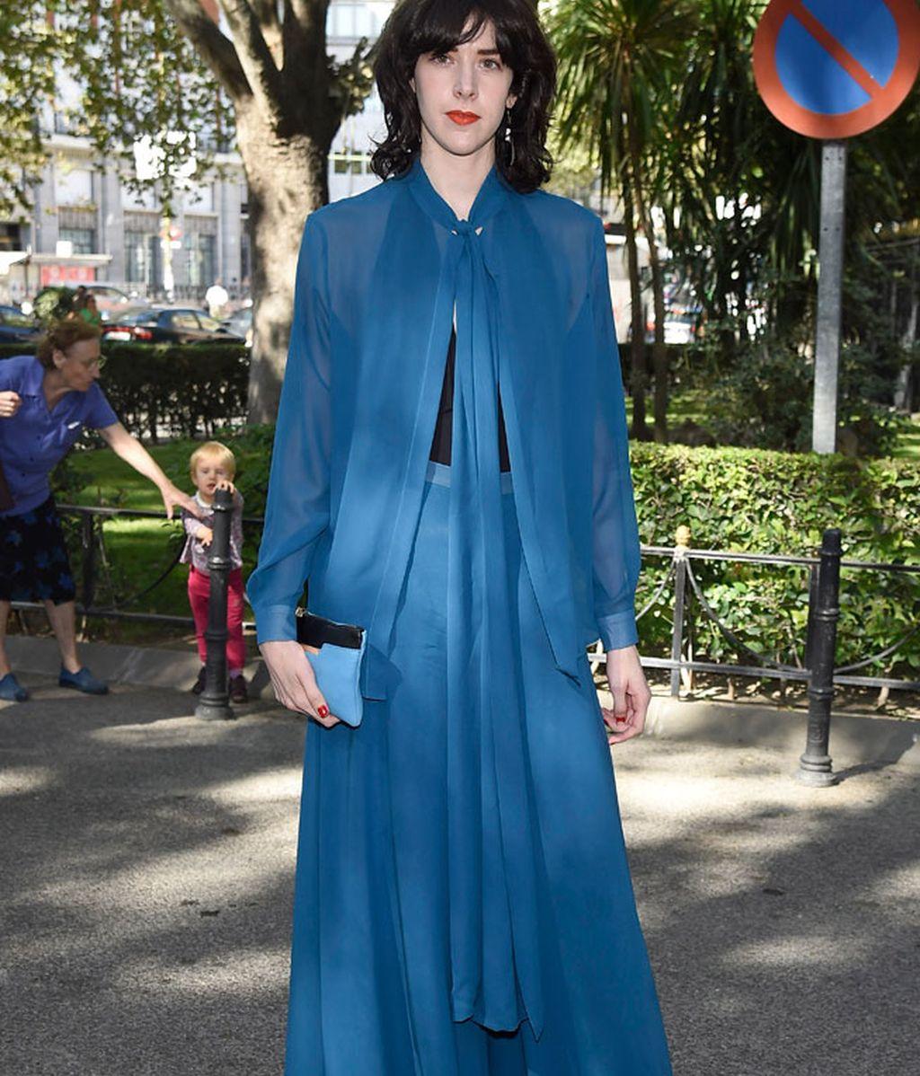 Brianda Fitz James, de azul y largo