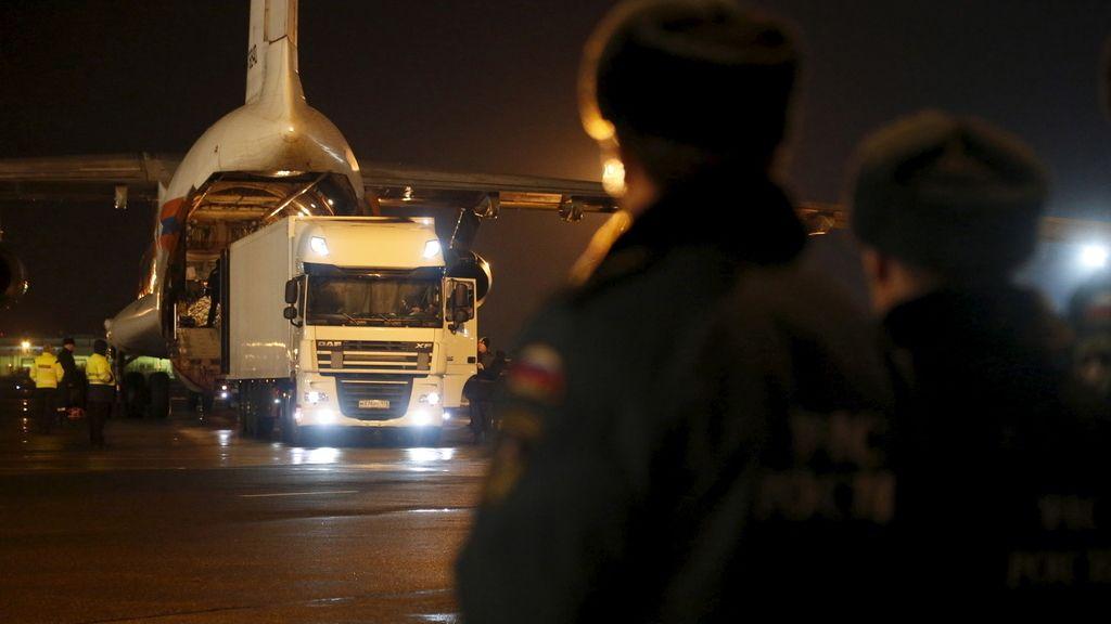 Llegan a Rusia los restos mortales de 144 víctimas del accidente aéreo ocurrido en el Sinaí
