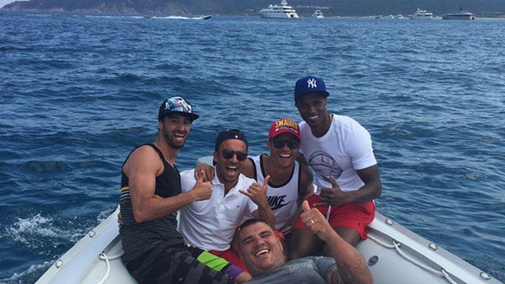 Cristiano Ronaldo de vacaciones