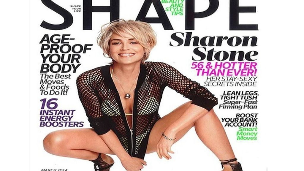 Sharon Stone portada de Shape