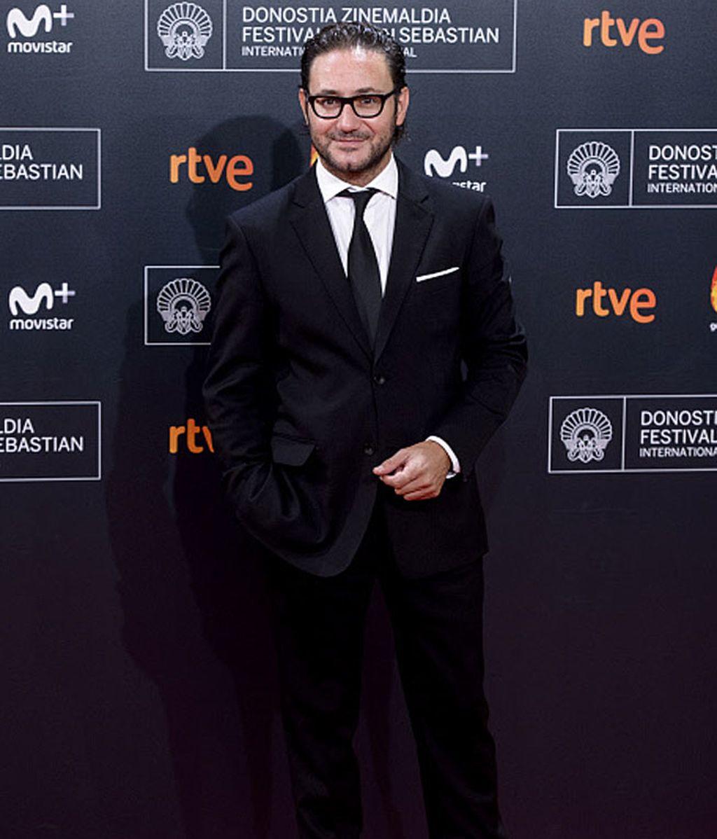El actor Carlos Santos no pudo faltar al festival de cine español