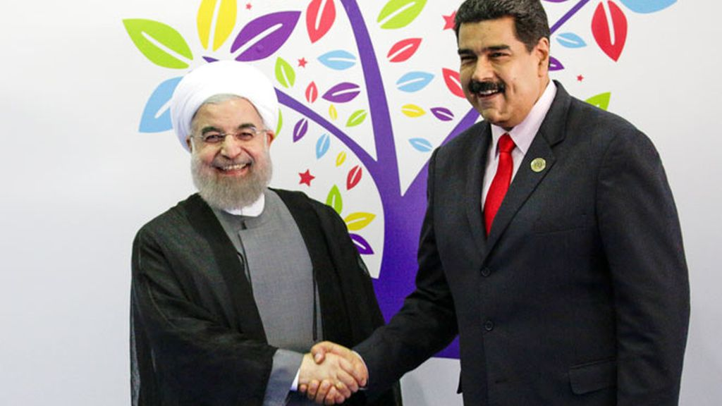 Hasán Rohani y Nicolás Maduro