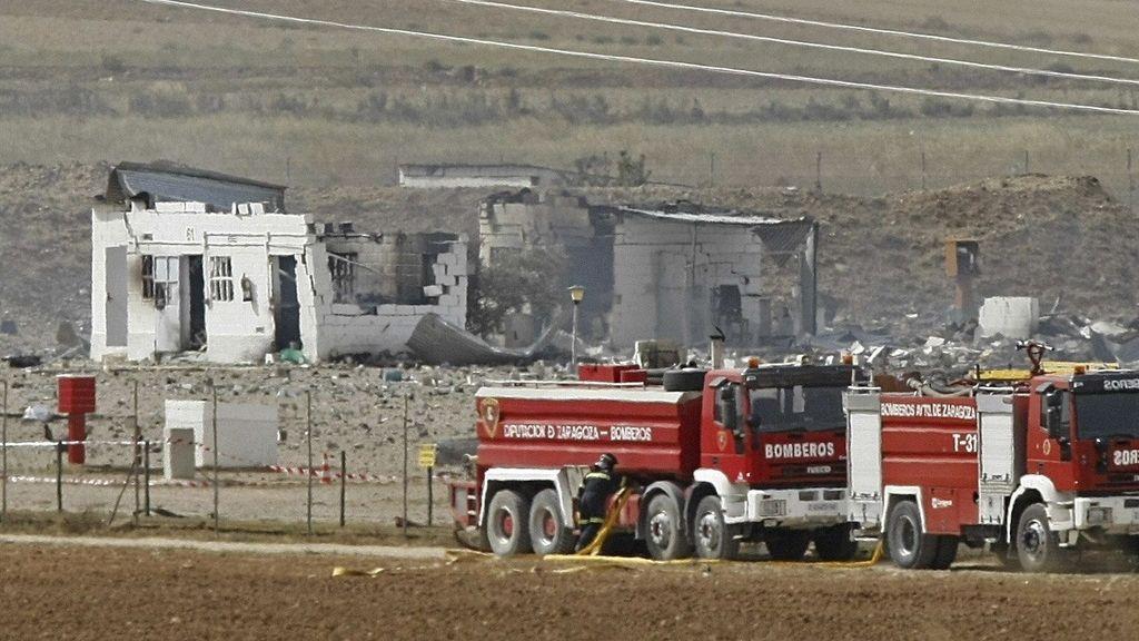 Cinco muertos en la explosión de una pirotecnia en Zaragoza
