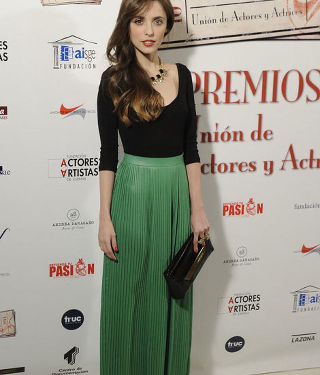 Leticia Dolera con un dos piezas en verde y negro