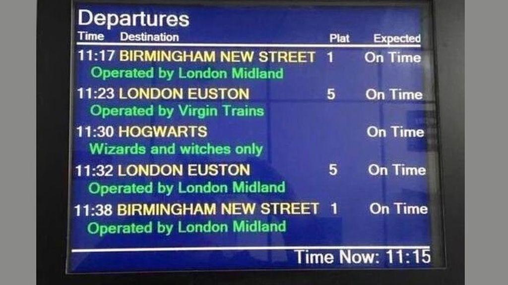 La estación King's Cross alegra la vuelta al cole con un guiño a Harry Potter