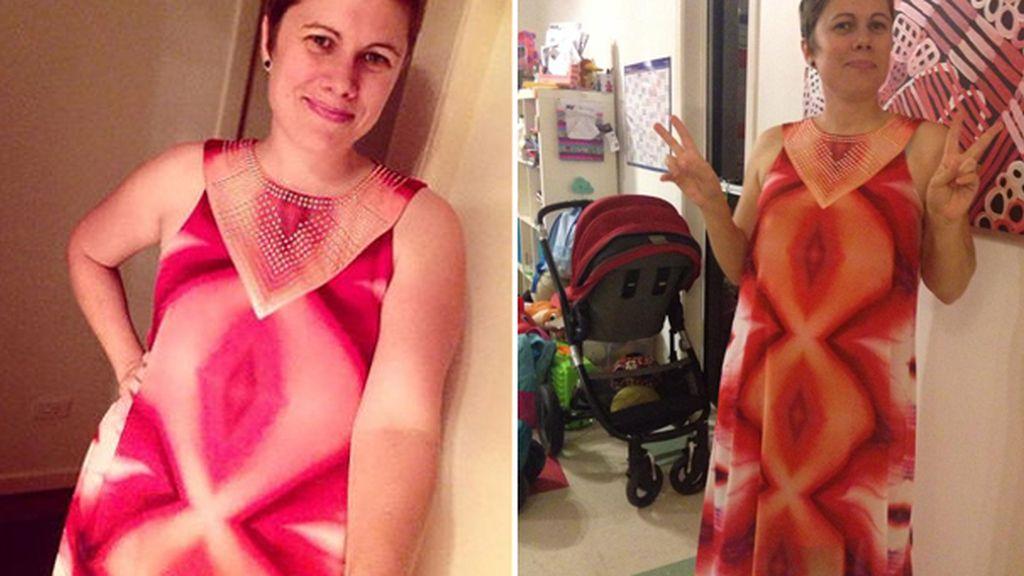 El 'vestido vagina' se convierte en viral tras la difusión de una inocente fotografía