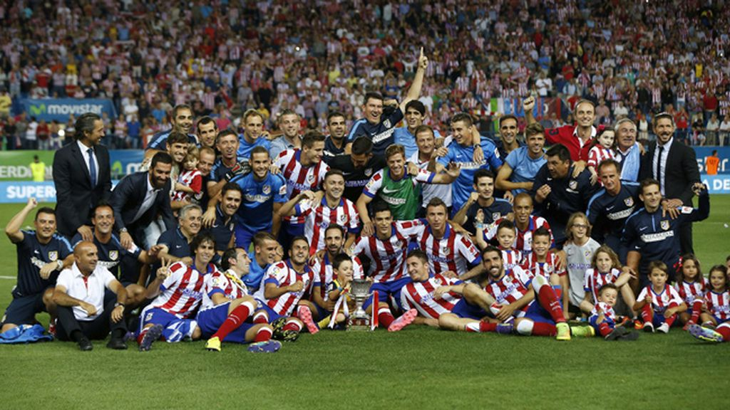 Atlético de Madrid-Real Madrid durante el partido de vuelta en de la Supercopa de España