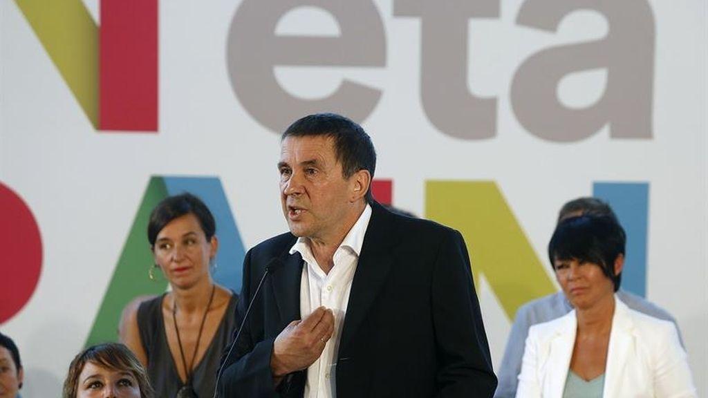 """Otegi dice que liderará el proyecto de EH Bildu """"hagan lo que hagan los tribunales españoles"""""""