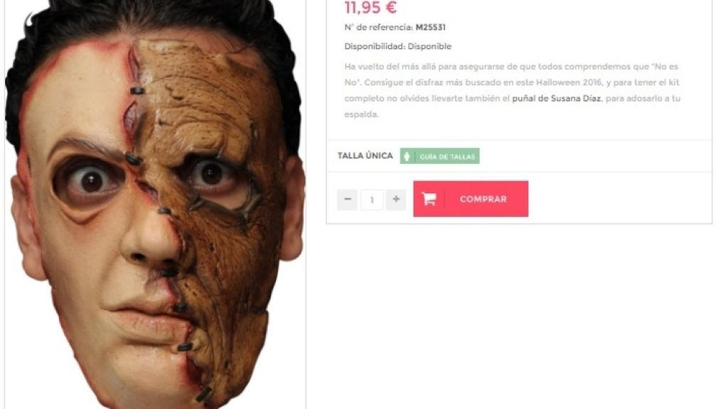 Disfraz zombi de Pedro Sánchez