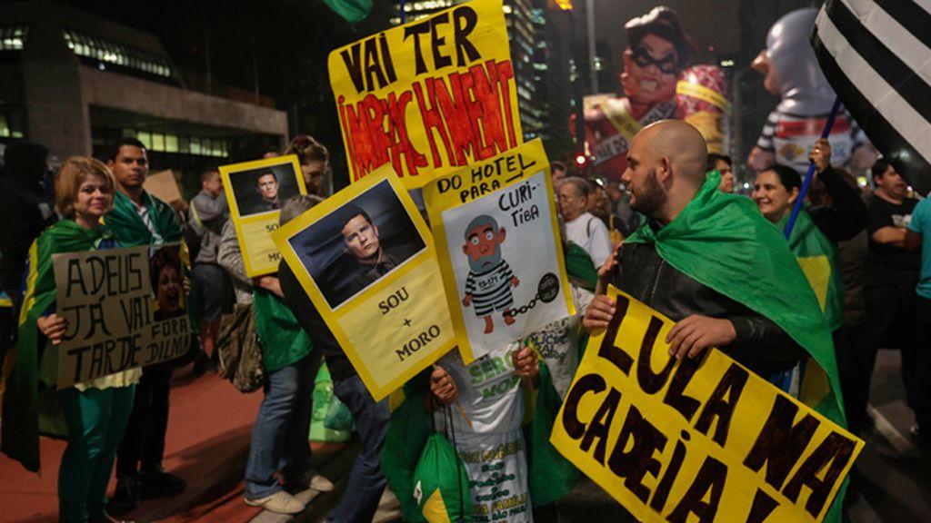 Protestas en Brasil contra Dilma Rousseff