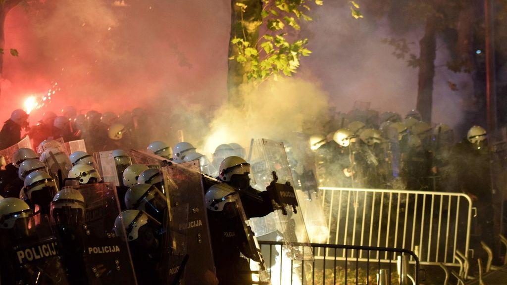 Disturbios en Montenegro
