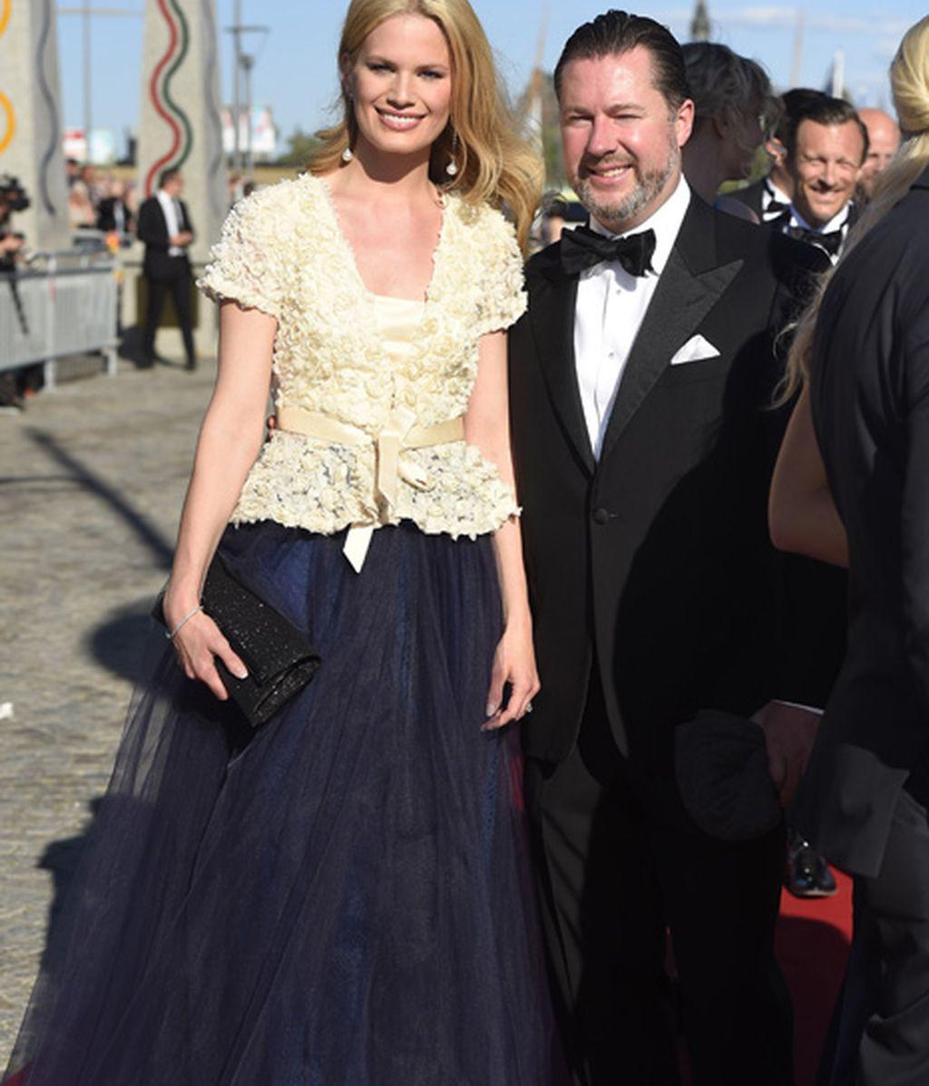 La modelo Vicky Andrén, mujer del hijo de la princesa Cristina, la hermana del rey Carlos Gustavo