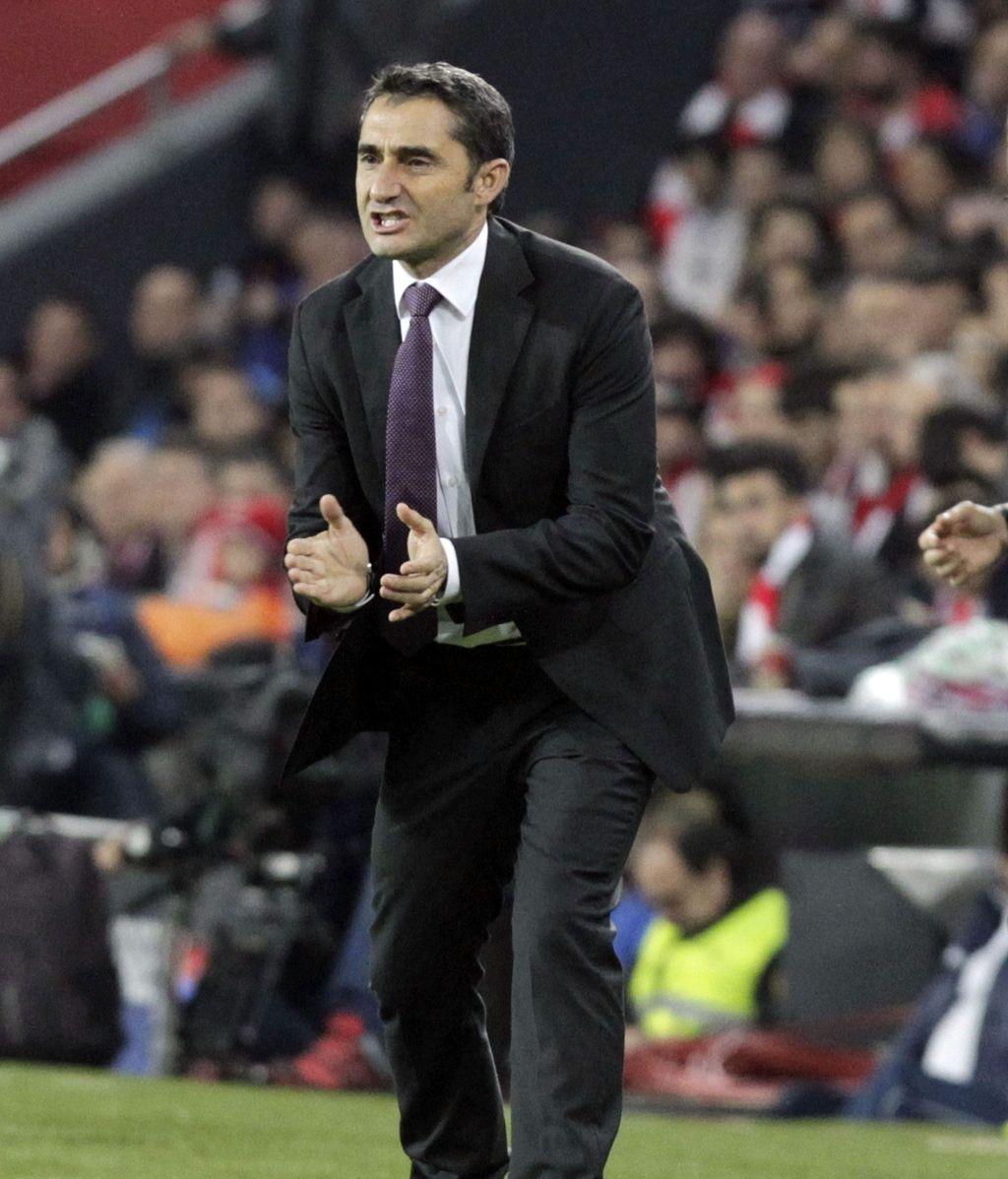 El entrenador del Athletic Club de Bilbao, Ernesto Valverde