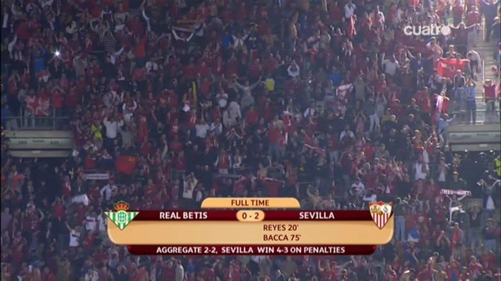 El Sevilla culminó la gesta ganando la tanta de penaltis