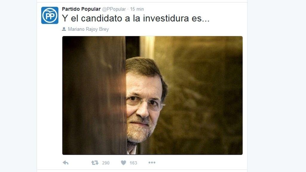El PP utiliza el 'meme' de Rajoy para anunciar su candidatura