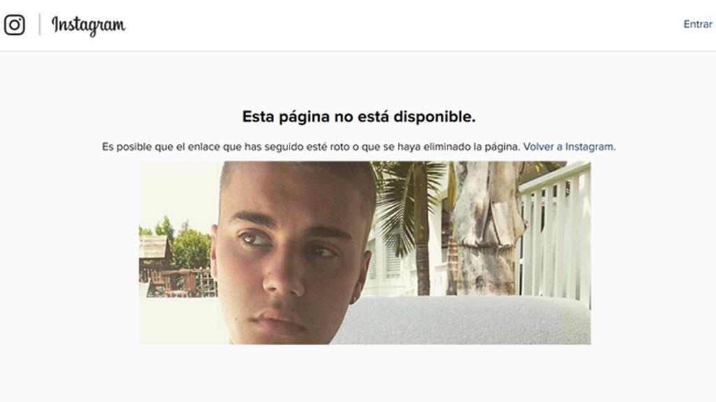Justin Bieber borra su Instagram