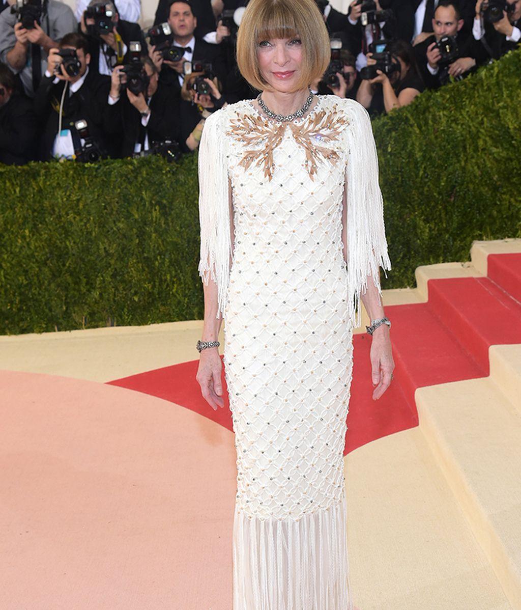 Anna Wintour vestida de Chanel