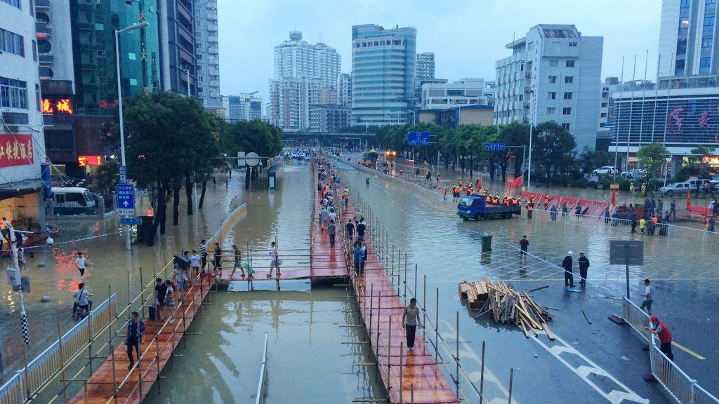 Las consecuencias del tifón Megi