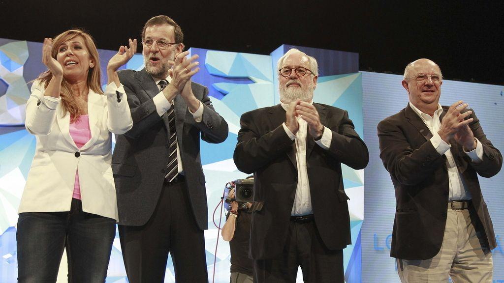 Rajoy protagoniza el mitin del PP en Barcelona