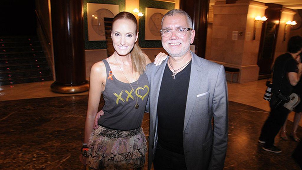 Sandra Ibarra y Juan Ramón Lucas fueron de los primeros invitados en llegar al Real