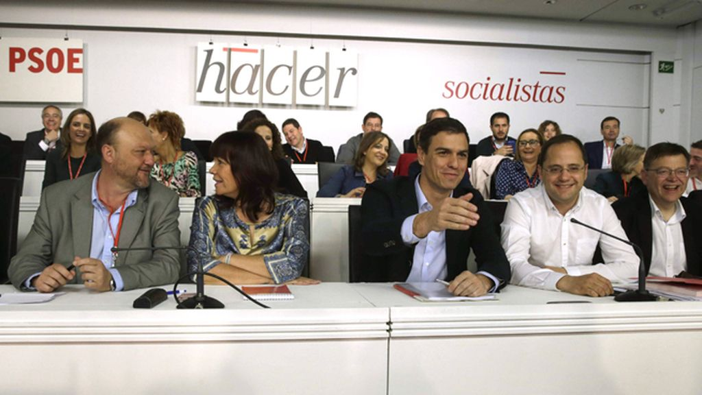El Comité Federal del PSOE reunido en Ferraz