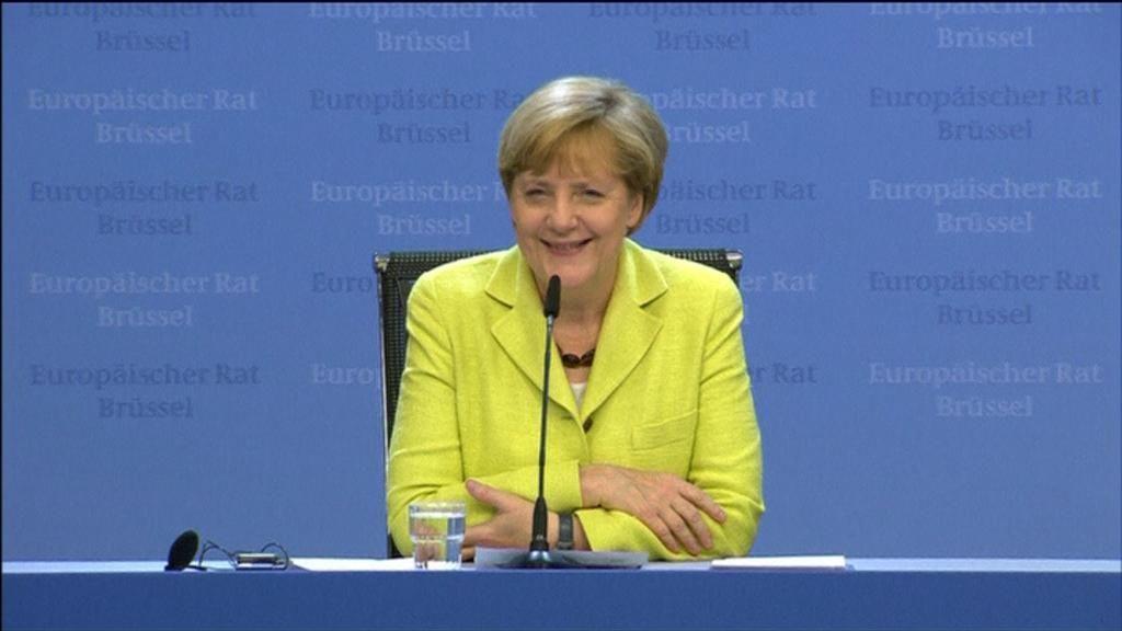 Merkel celebra su cumpleaños con los líderes europeos