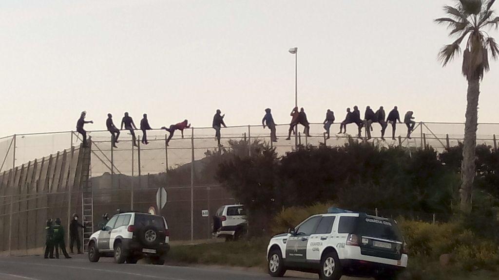 Nuevo intento de salto a la valla de Melilla