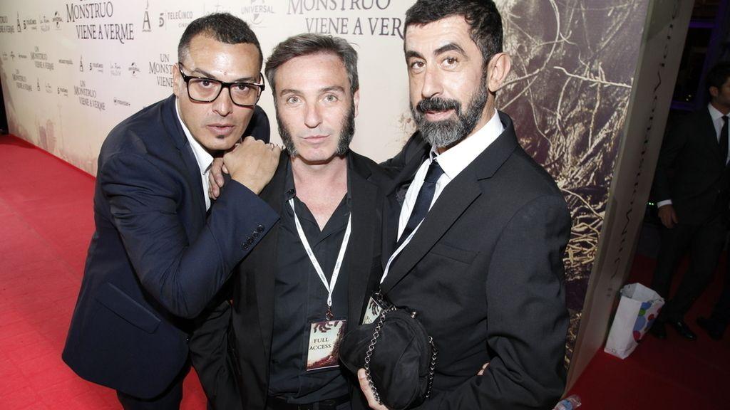 Josu Carnicer, David Sánchez y Piti Alonso, de DYP Comunicación, responsables del súper estreno de anoche