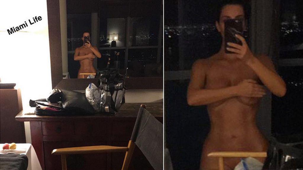 Kim Kardashian vuelve a desnudarse en las redes sociales