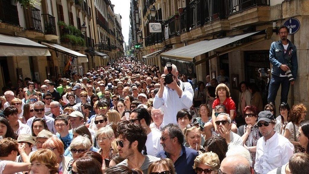 San Sebastián se ha volcado con la boda de Llorente