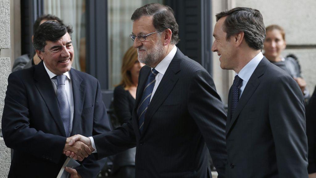 Mariano Rajoy llega al Congreso para dar su discurso de investidura
