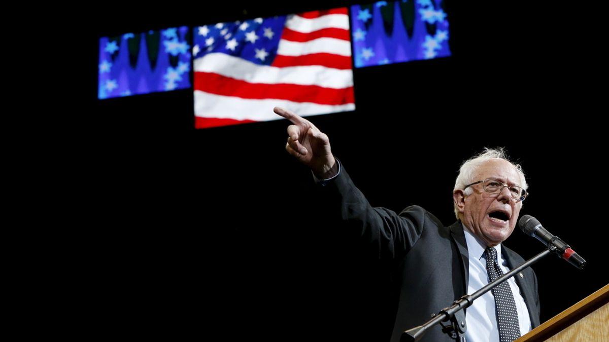 Bernie Sanders, en campaña