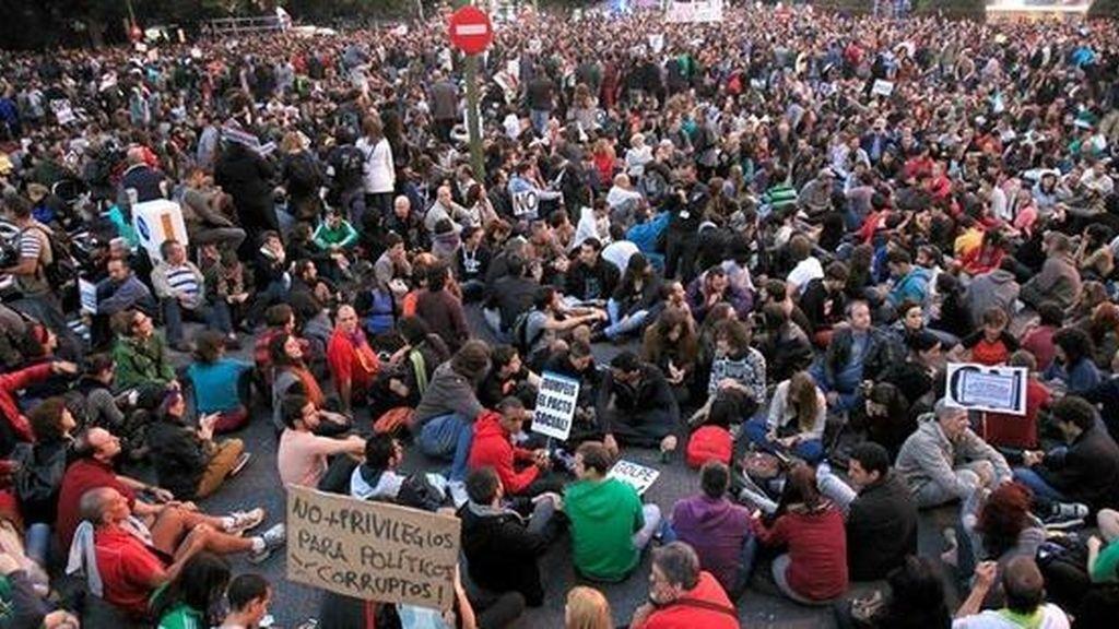Imagen archivo: Manifestación frente al Congreso de los Diputados