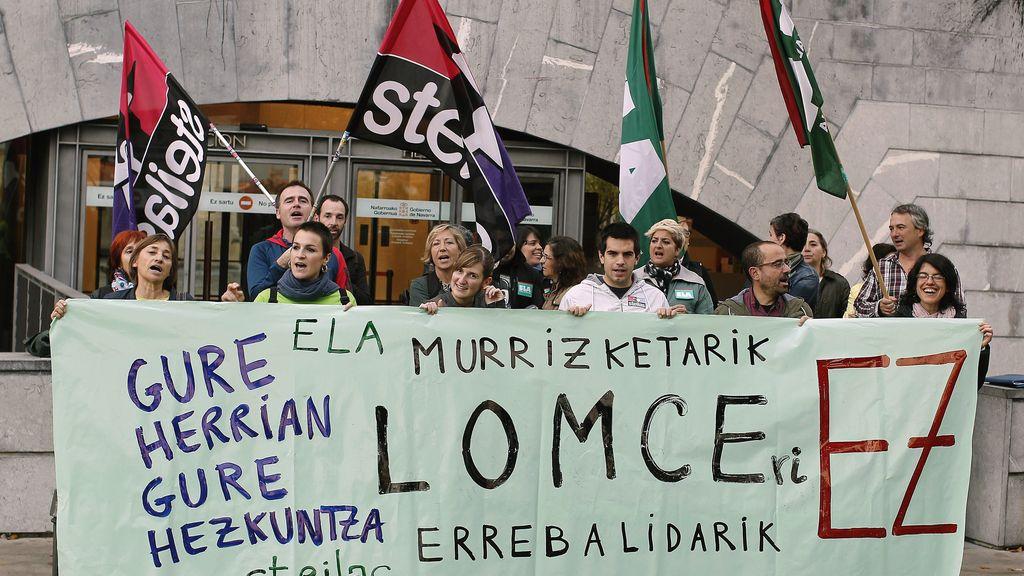 Movilizaciones contra las reválidas, la Lomce y los recortes en Pamplona