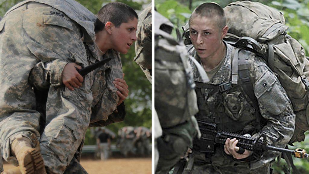 Kirsten Griest (izq.) y Shaye Haver, ranger del ejército de EEUU
