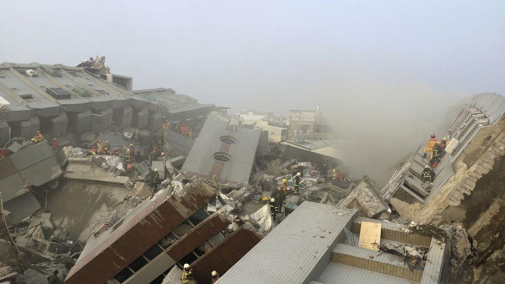 Siete personas han perdido la vida en el terremoto de Taiwán