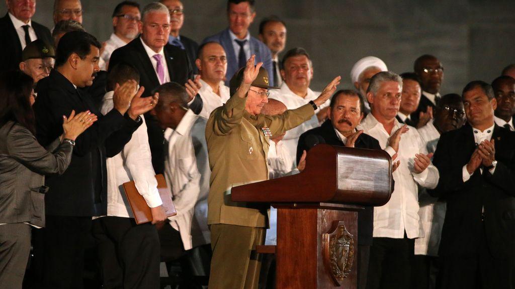 Raúl Castro interviene en el funeral de Fidel Castro
